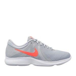 Nike Revolution 4 Running Sneaker Gray and Orange